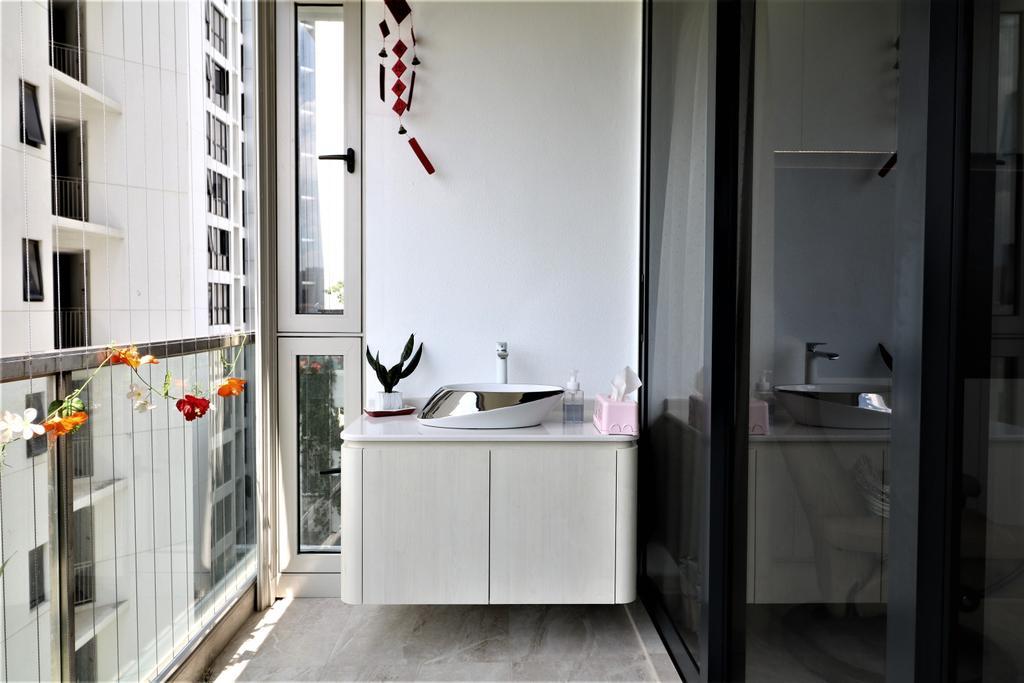 HDB, Balcony, Waterbank @ Dakota, Interior Designer, E+e Design & Build