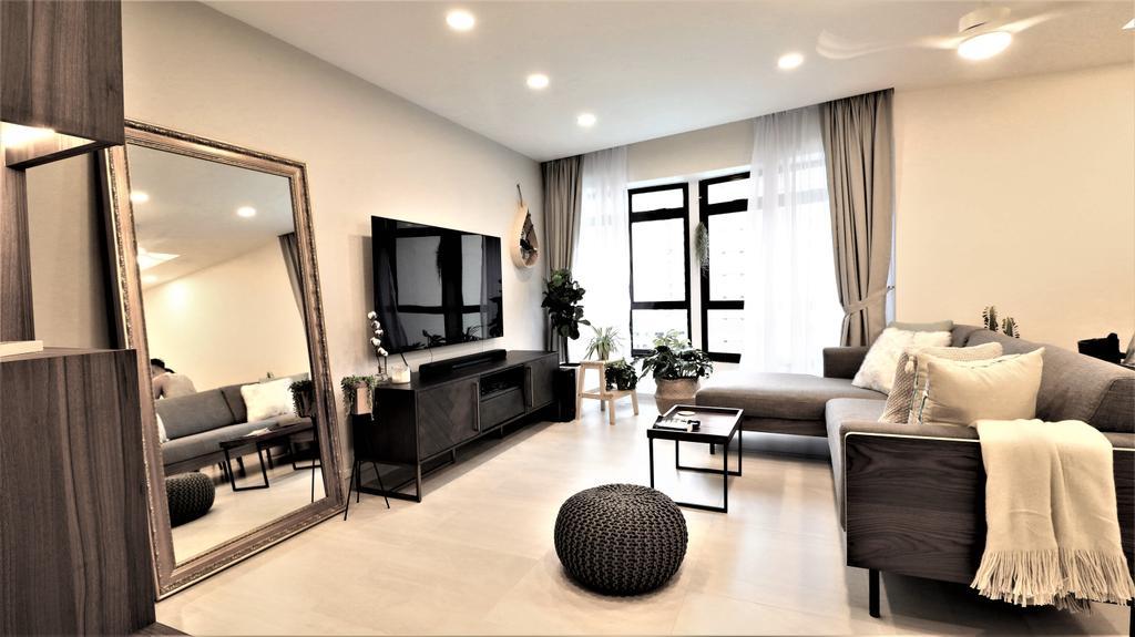 Modern, HDB, Living Room, Kim Tian Place, Interior Designer, E+e Design & Build, Contemporary