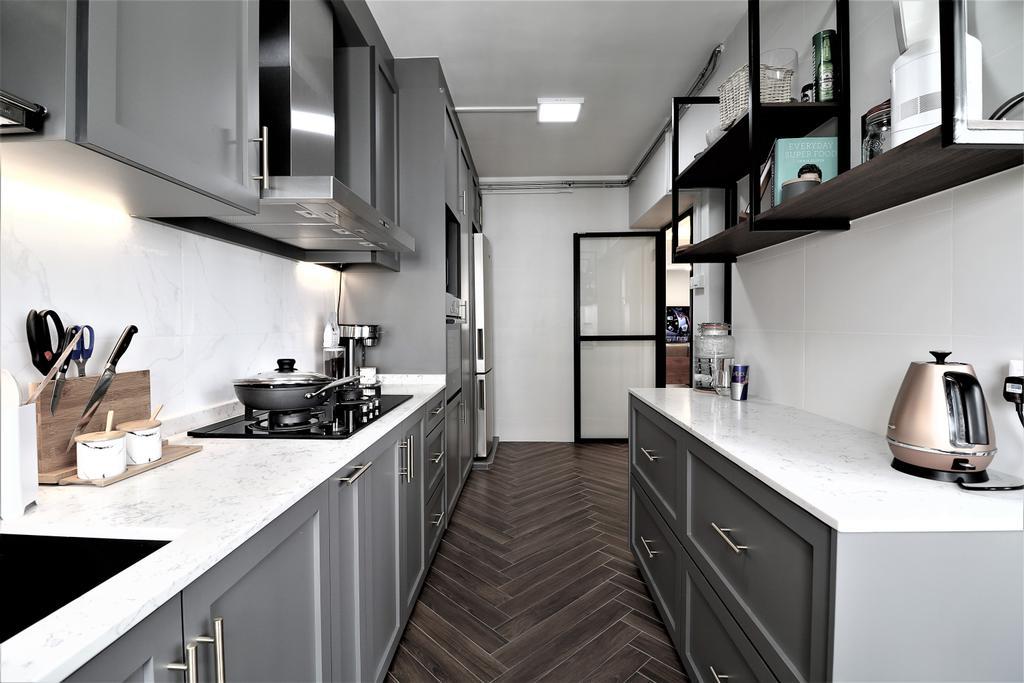Modern, HDB, Kitchen, Kim Tian Place, Interior Designer, E+e Design & Build, Contemporary