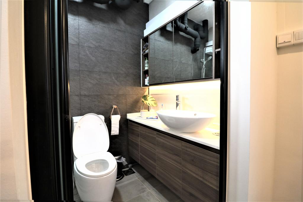 Modern, HDB, Bathroom, Kim Tian Place, Interior Designer, E+e Design & Build, Contemporary