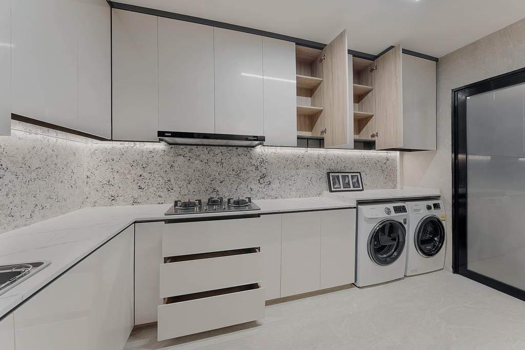 Contemporary, HDB, Kitchen, Tampines North Drive 1, Interior Designer, ARK-hitecture