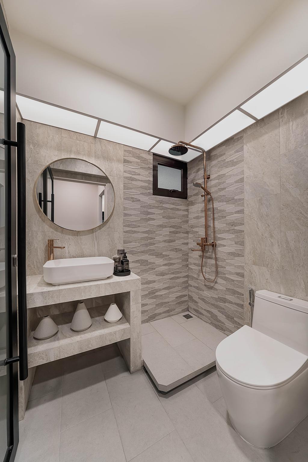 Contemporary, HDB, Bathroom, Tampines North Drive 1, Interior Designer, ARK-hitecture