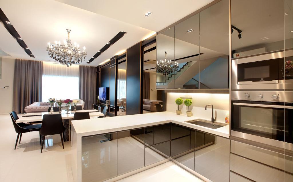Modern, Condo, Dining Room, Permai Garden, Penang, Interior Designer, Legno ID & Construction Sdn. Bhd.