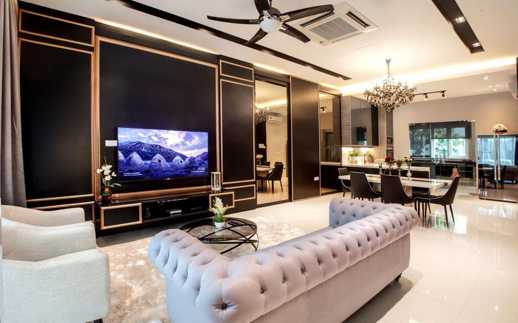 Modern, Condo, Living Room, Permai Garden, Penang, Interior Designer, Legno ID & Construction Sdn. Bhd.