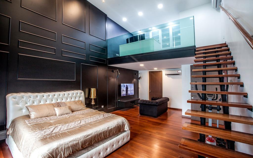 Modern, Condo, Bedroom, Permai Garden, Penang, Interior Designer, Legno ID & Construction Sdn. Bhd.