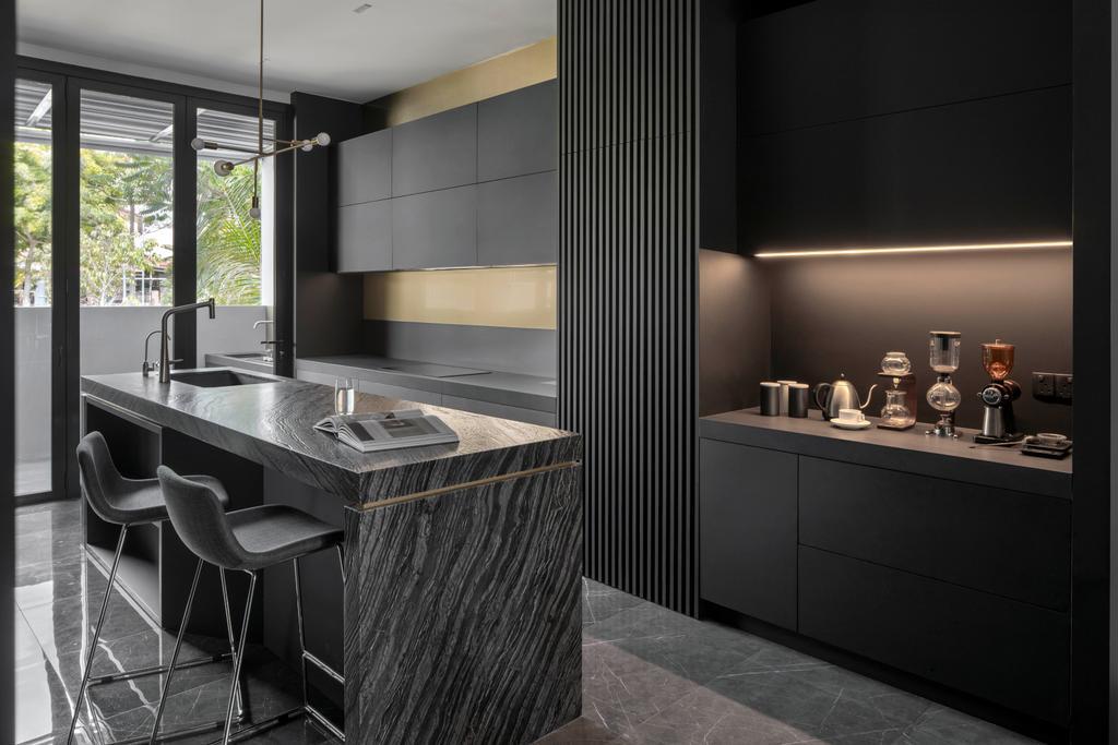 Contemporary, Landed, Kitchen, Jalan Sankam, Interior Designer, Van Hus Interior Design