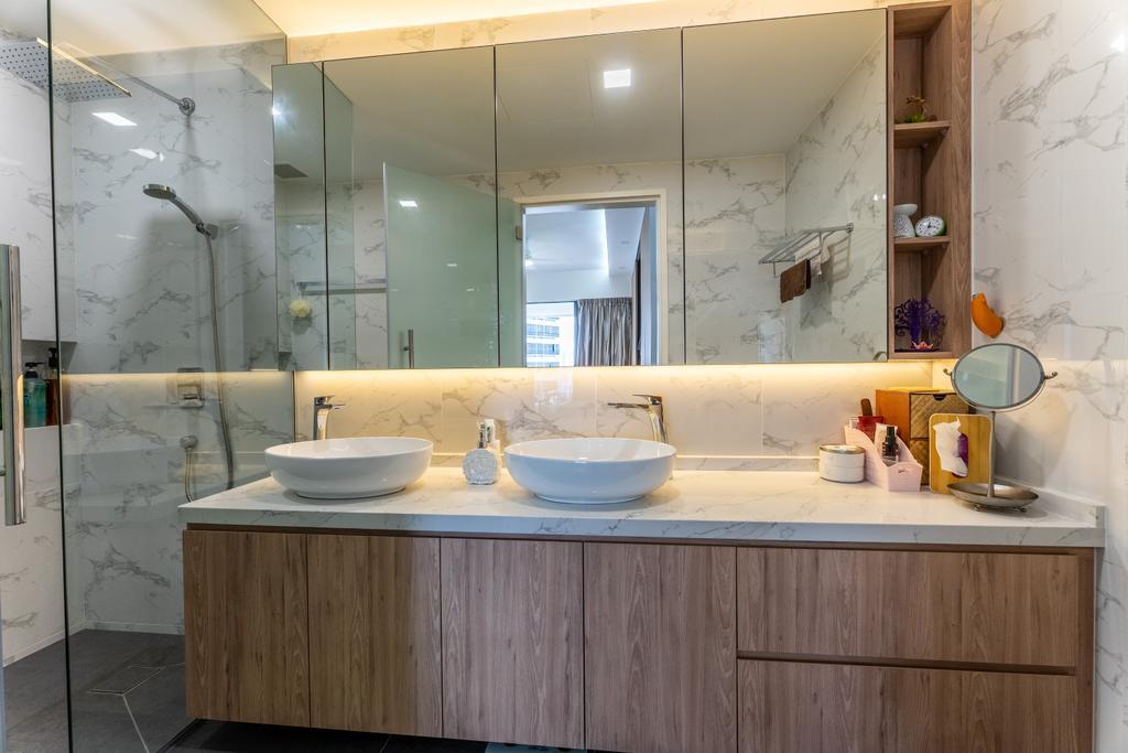 Scandinavian, Condo, Bathroom, The Interlace, Interior Designer, Luova Project Services