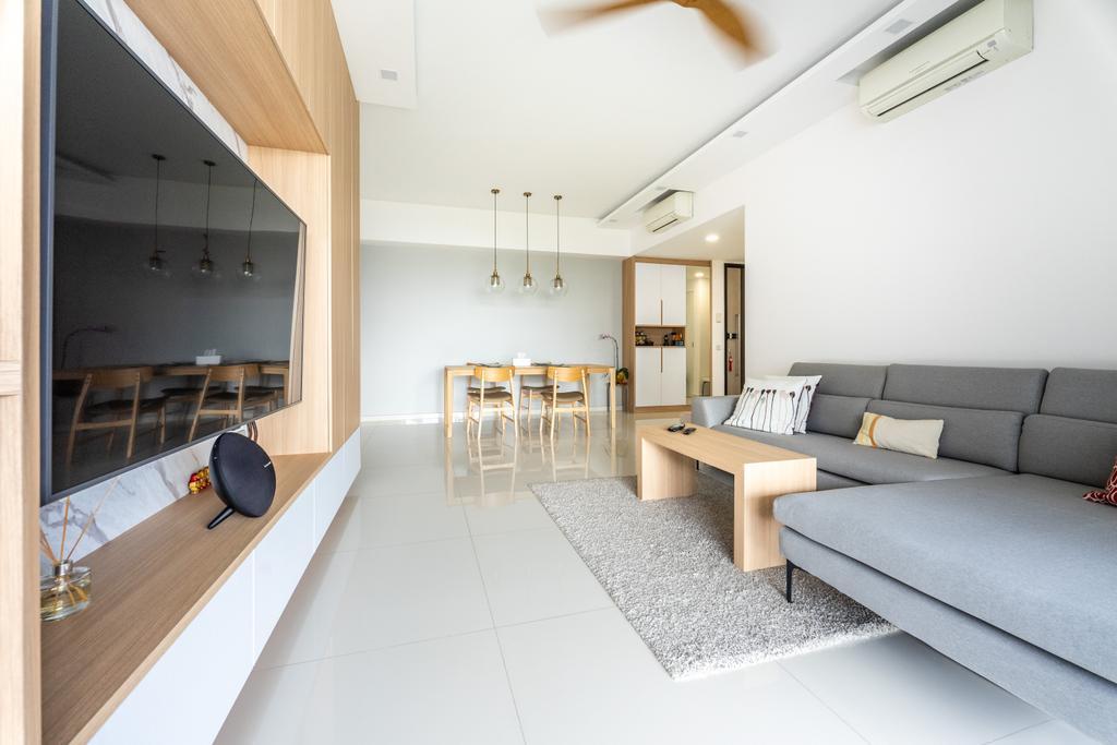 Scandinavian, Condo, Living Room, The Interlace, Interior Designer, Luova Project Services
