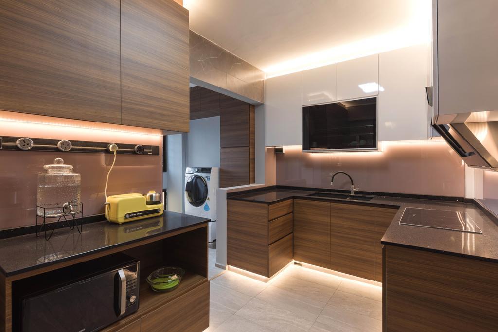 Contemporary, HDB, Kitchen, Choa Chu Kang Street 62, Interior Designer, Swiss Interior Design