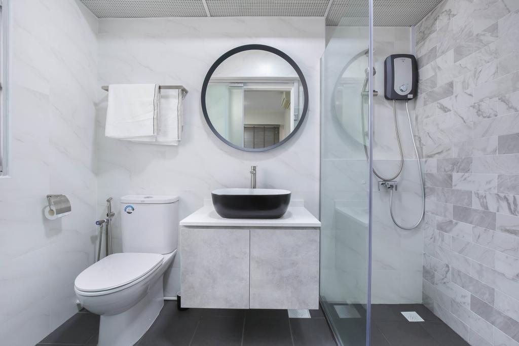 Modern, HDB, Bathroom, Choa Chu Kang Avenue 5, Interior Designer, U-Home Interior Design, Scandinavian