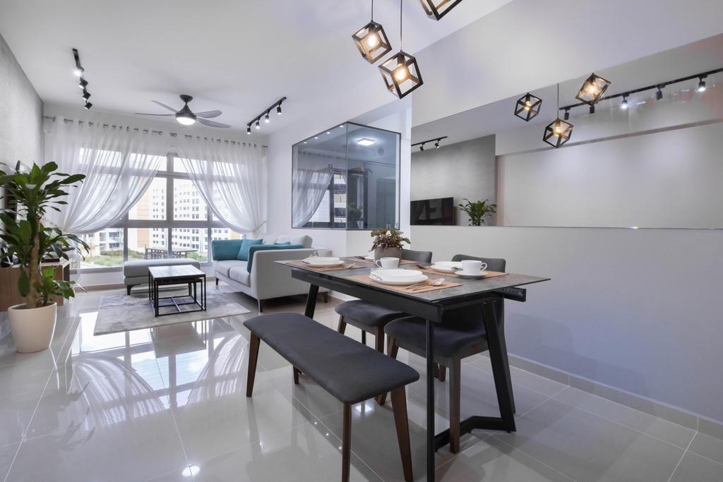 Modern, HDB, Dining Room, Choa Chu Kang Avenue 5, Interior Designer, U-Home Interior Design, Scandinavian