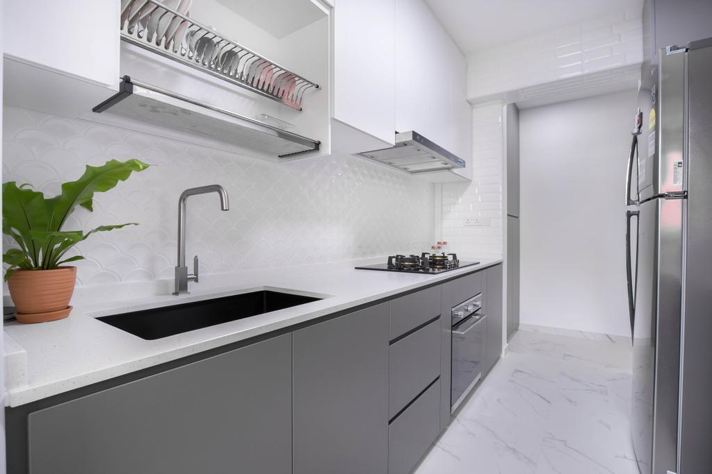 Modern, HDB, Kitchen, Choa Chu Kang Avenue 5, Interior Designer, U-Home Interior Design, Scandinavian