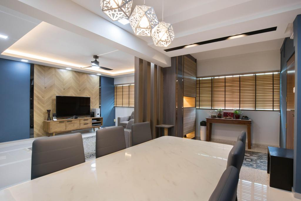 Eclectic, HDB, Dining Room, Tampines Street 42, Interior Designer, U-Home Interior Design