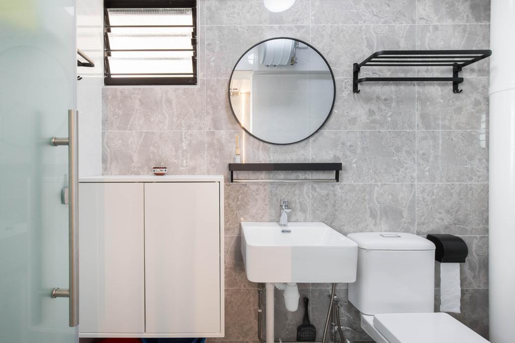 Eclectic, HDB, Bathroom, Tampines Street 42, Interior Designer, U-Home Interior Design