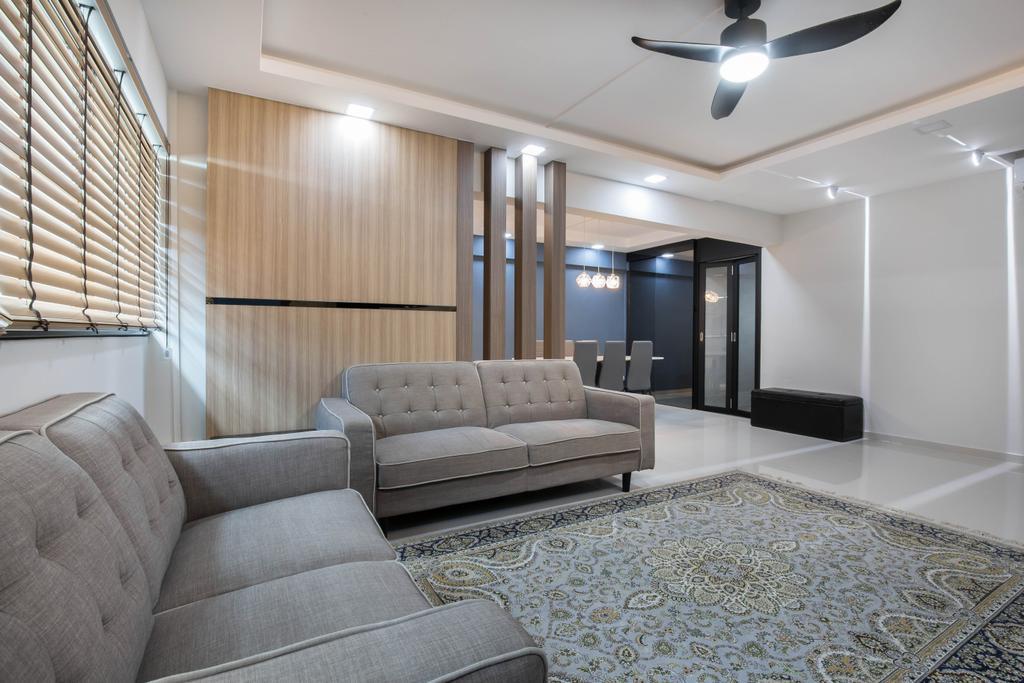 Eclectic, HDB, Living Room, Tampines Street 42, Interior Designer, U-Home Interior Design