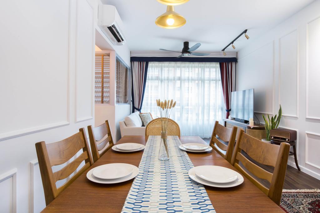 Modern, HDB, Dining Room, Buangkok Crescent, Interior Designer, Inizio Atelier, Contemporary