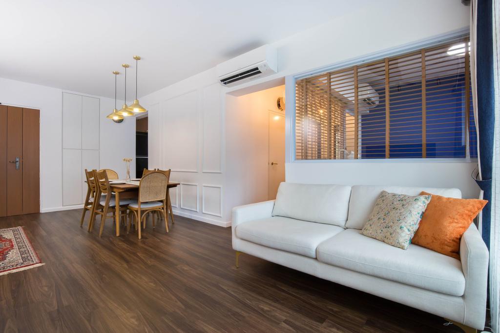 Modern, HDB, Living Room, Buangkok Crescent, Interior Designer, Inizio Atelier, Contemporary