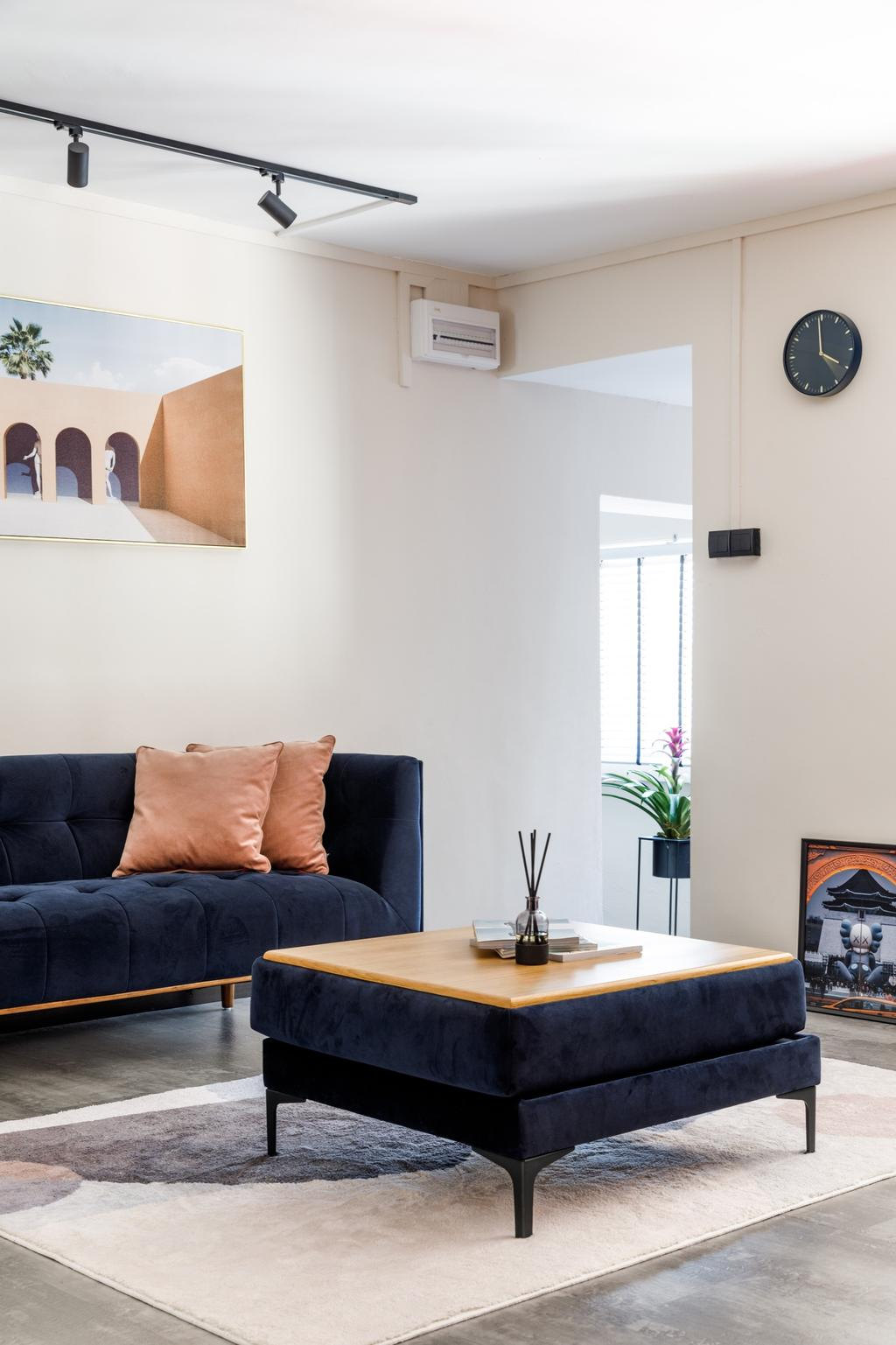 Contemporary, HDB, Living Room, Hougang Avenue 4, Interior Designer, The Local INN.terior 新家室, Scandinavian