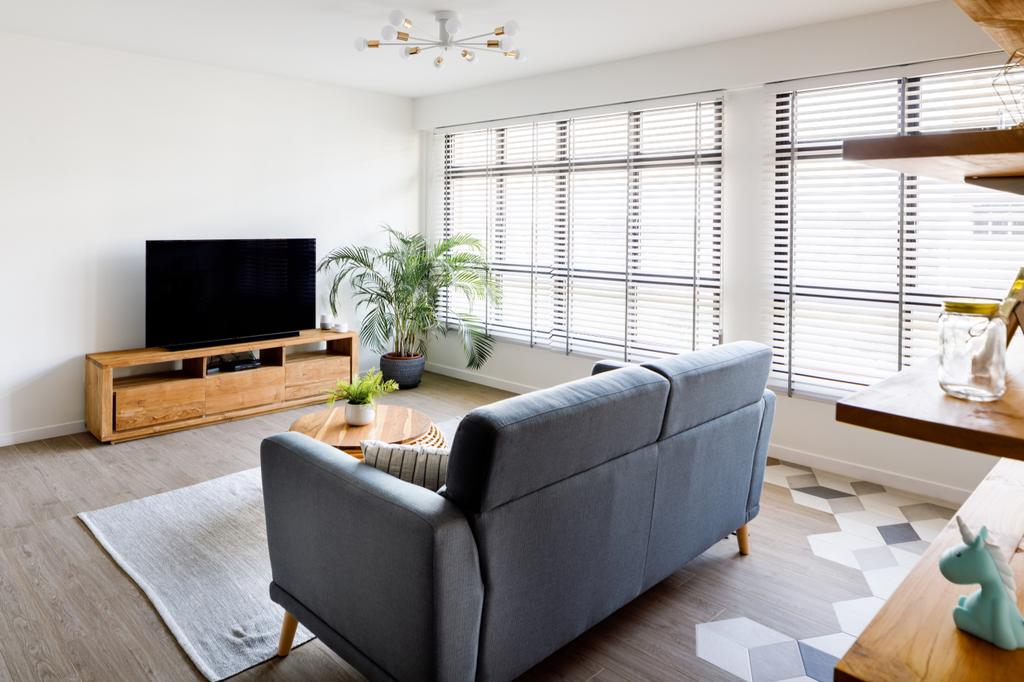 Scandinavian, HDB, Living Room, Sengkang West Road, Interior Designer, The Local INN.terior 新家室
