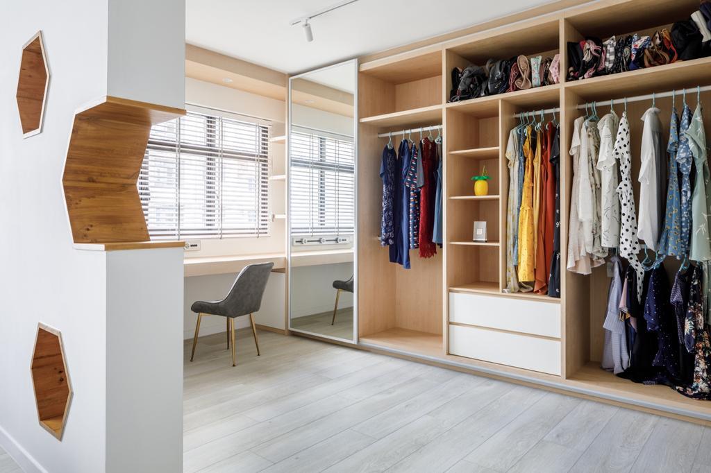 Scandinavian, HDB, Study, Sengkang West Road, Interior Designer, The Local INN.terior 新家室, Walk In Wardrobe
