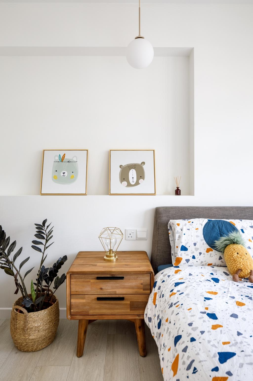 Scandinavian, HDB, Bedroom, Sengkang West Road, Interior Designer, The Local INN.terior 新家室