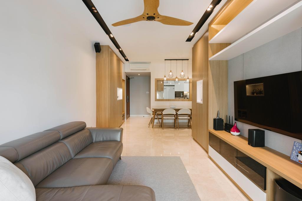 Scandinavian, Condo, Living Room, The Trevose, Interior Designer, Ascenders Design Studio