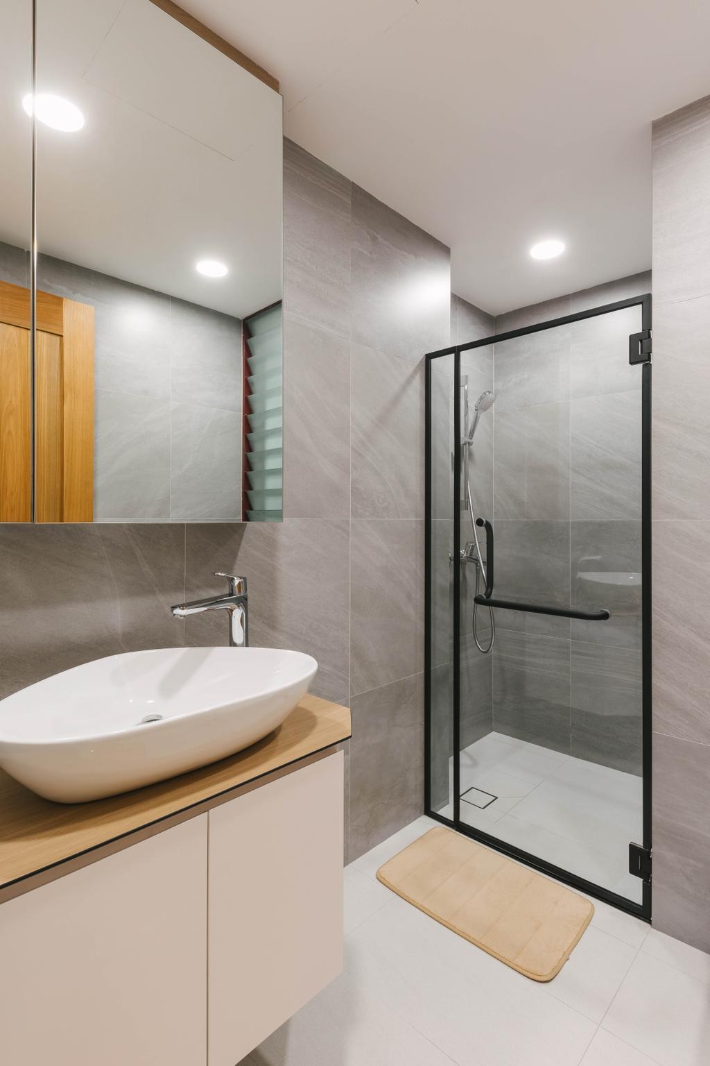 Scandinavian, Condo, Bathroom, The Trevose, Interior Designer, Ascenders Design Studio