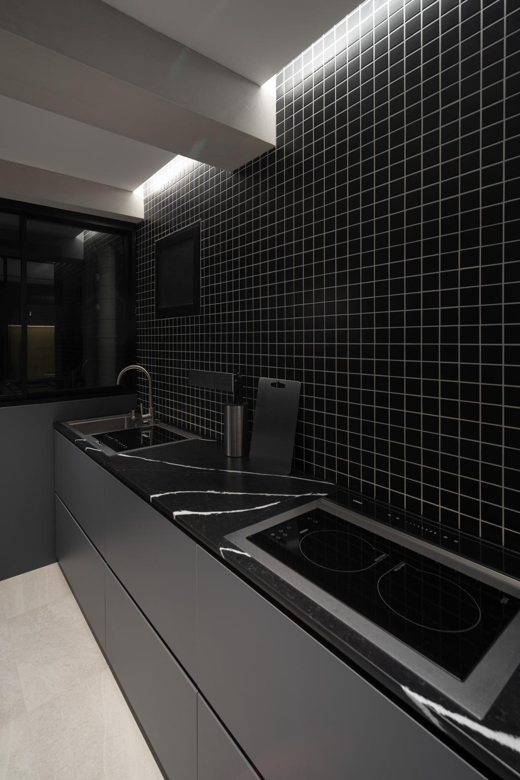 Industrial, HDB, Kitchen, Depot Road, Interior Designer, Arche Interior, Minimalistic