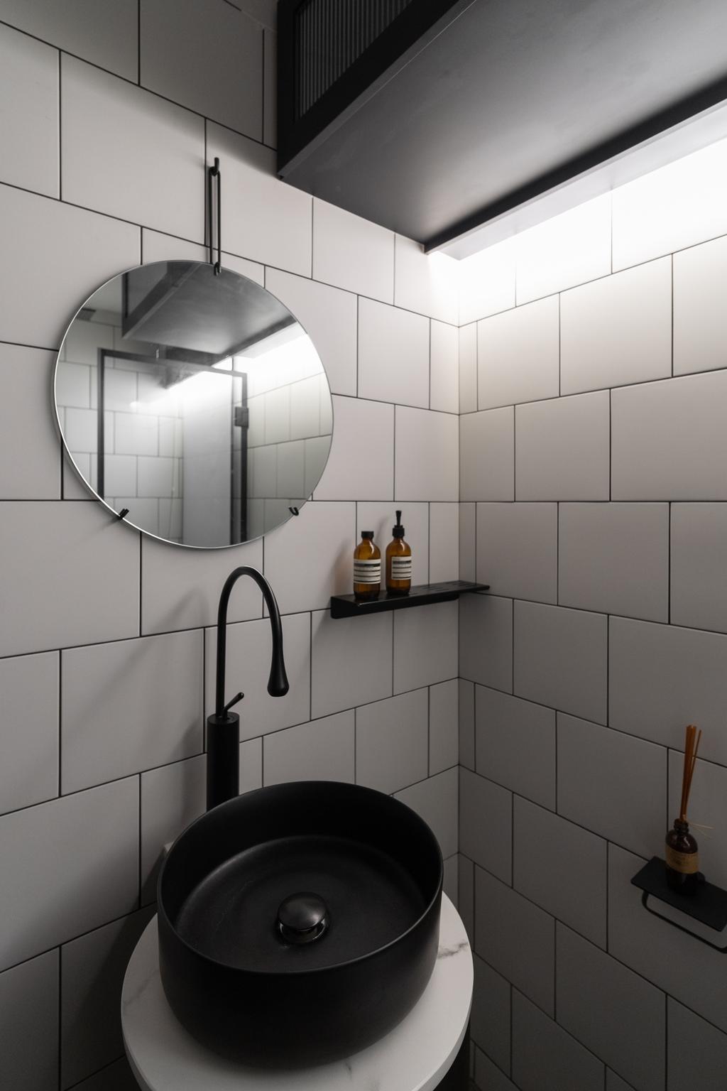 Industrial, HDB, Bathroom, Depot Road, Interior Designer, Arche Interior, Minimalistic
