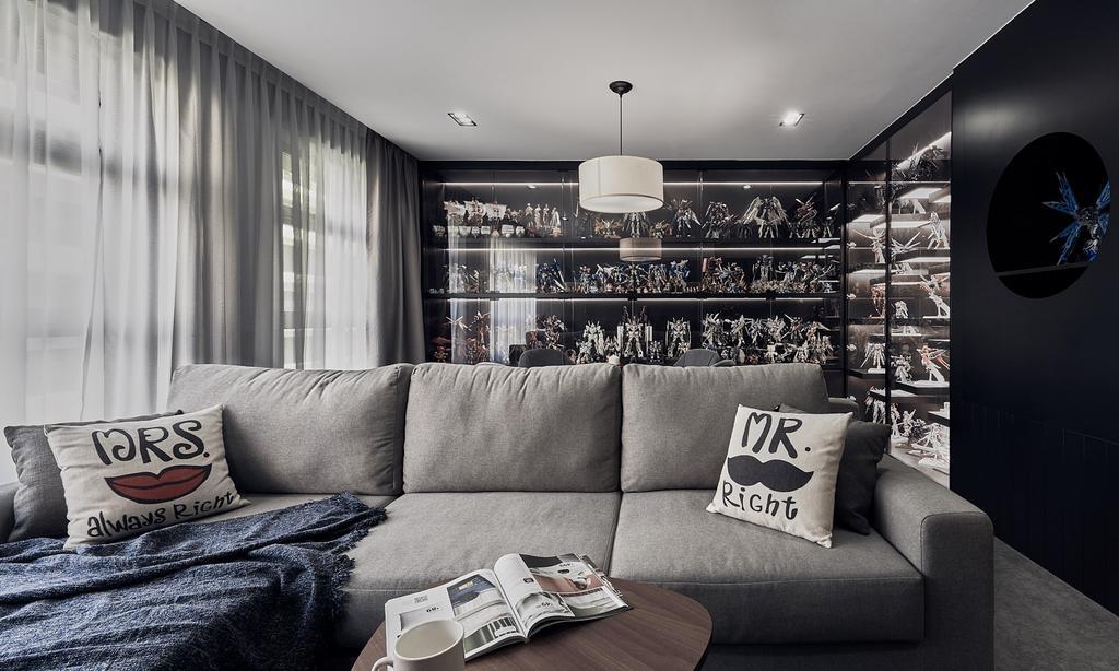 Contemporary, HDB, Living Room, Tampines Avenue 9, Interior Designer, Lemonfridge Studio