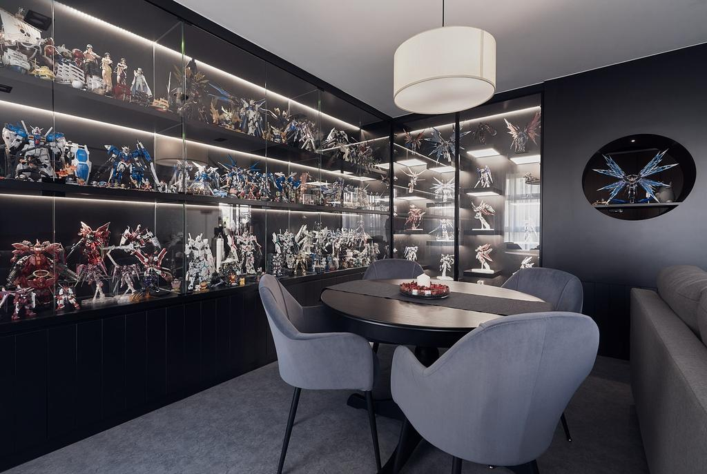 Contemporary, HDB, Dining Room, Tampines Avenue 9, Interior Designer, Lemonfridge Studio