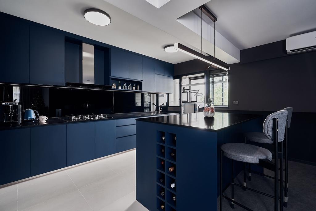 Contemporary, HDB, Kitchen, Tampines Avenue 9, Interior Designer, Lemonfridge Studio