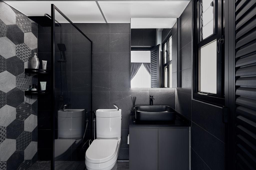 Contemporary, HDB, Bathroom, Tampines Avenue 9, Interior Designer, Lemonfridge Studio