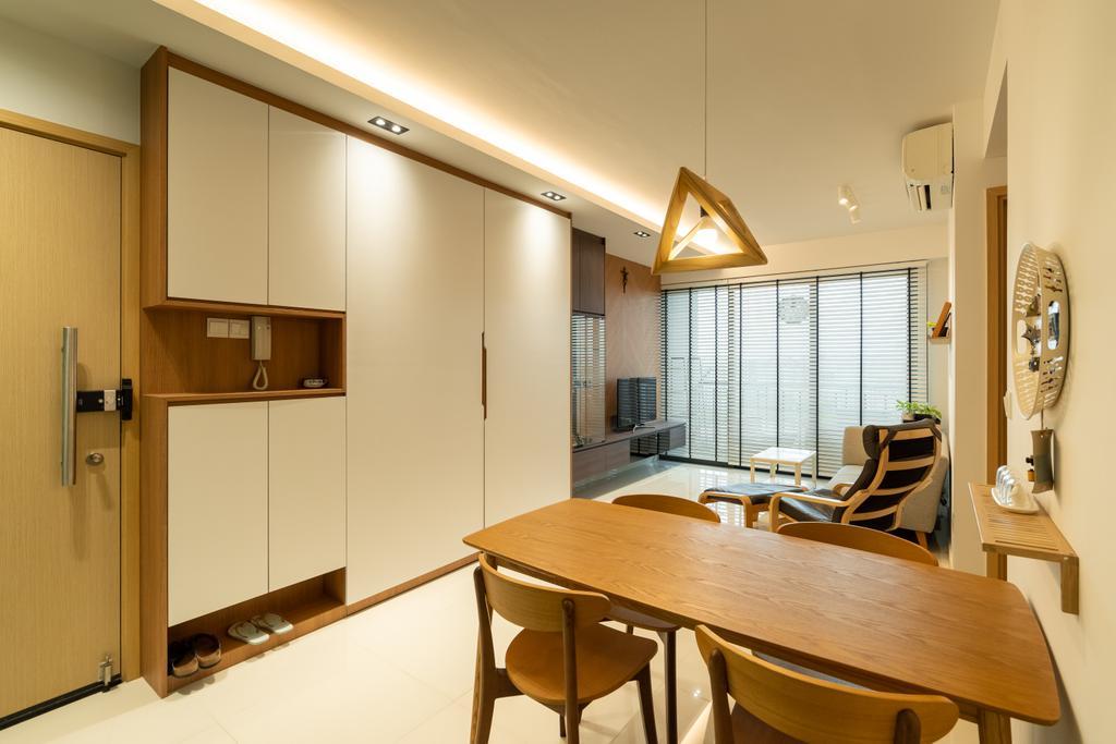 Scandinavian, Condo, Dining Room, Esparina Residences, Interior Designer, Charlotte's Carpentry