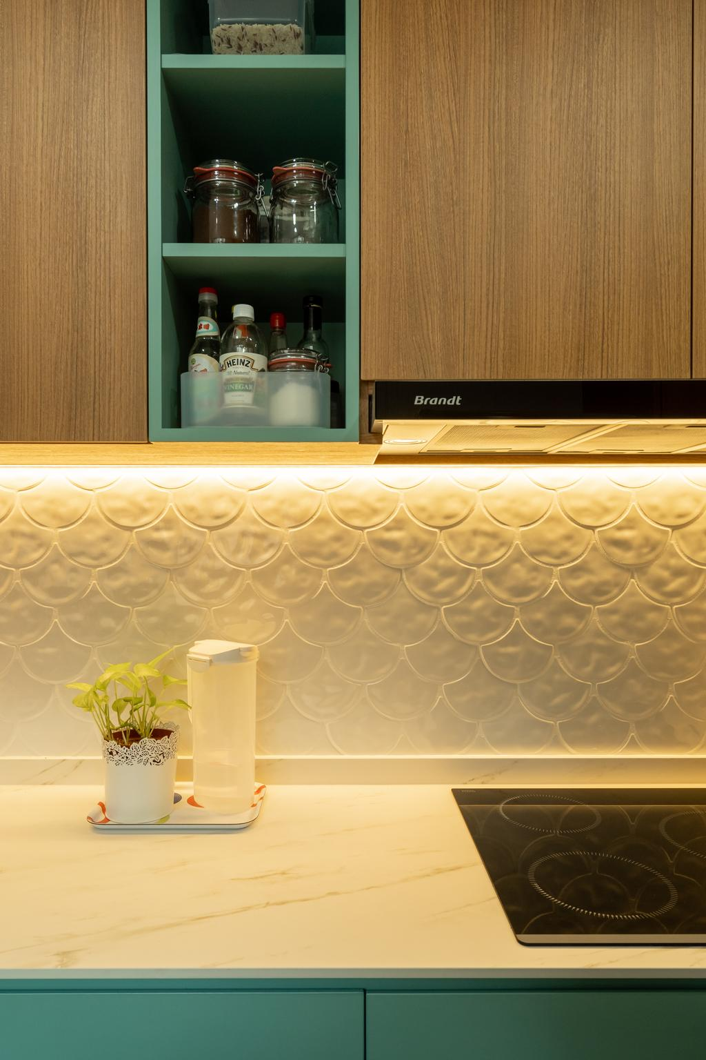 Scandinavian, Condo, Kitchen, Esparina Residences, Interior Designer, Charlotte's Carpentry