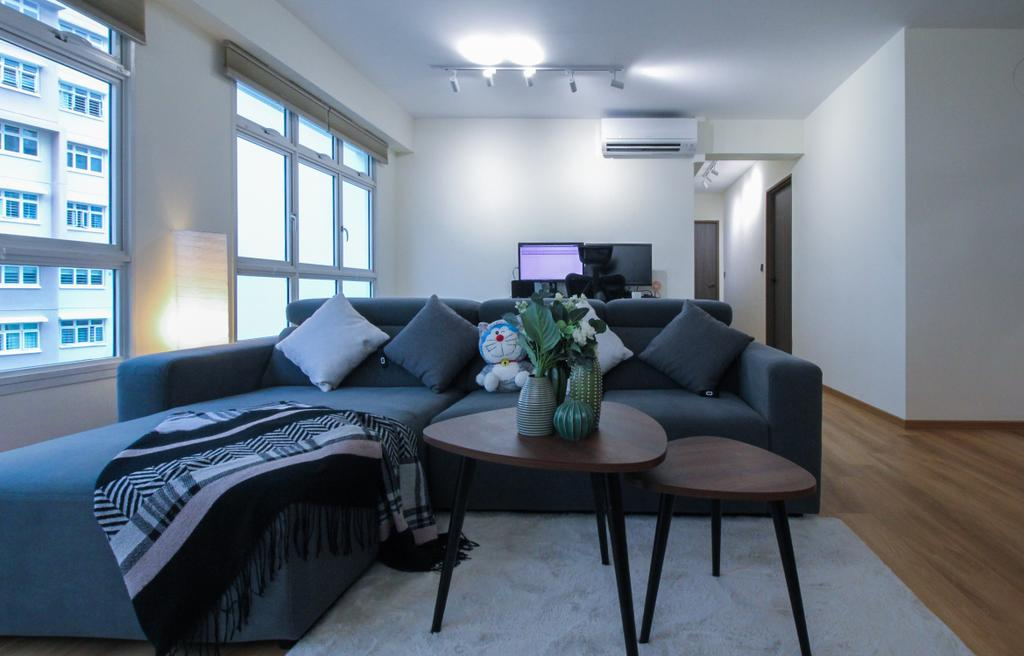 Scandinavian, HDB, Living Room, Yishun Avenue 9, Interior Designer, Sense & Semblance, Contemporary