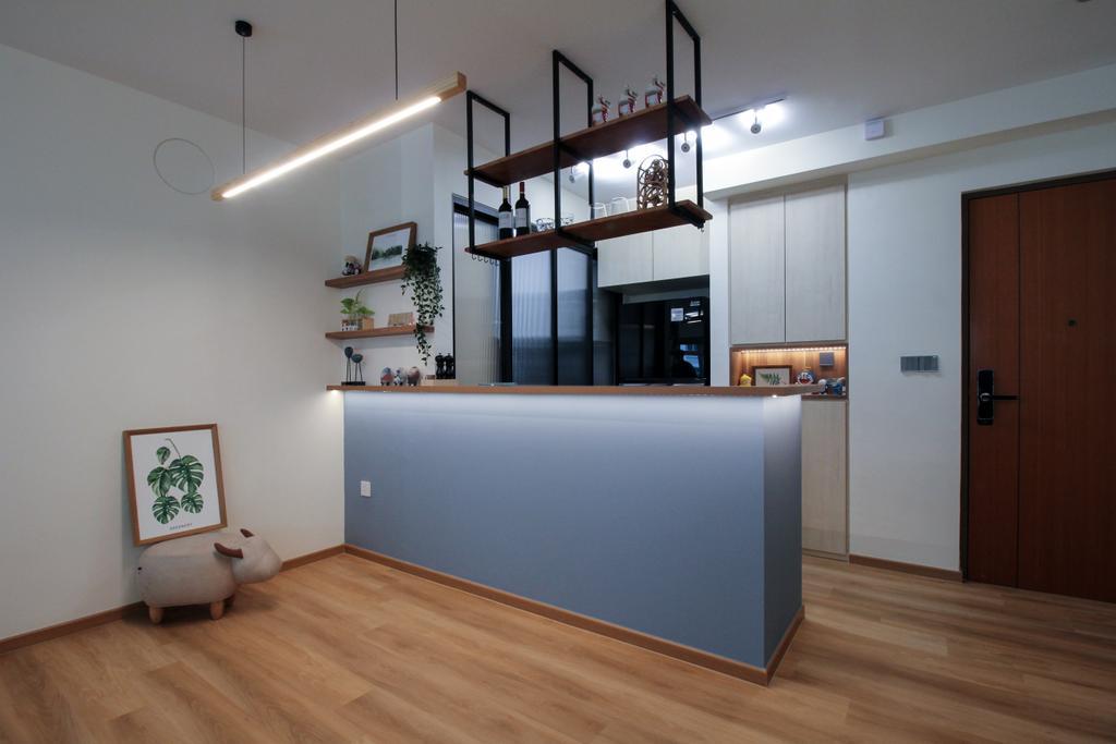 Scandinavian, HDB, Kitchen, Yishun Avenue 9, Interior Designer, Sense & Semblance, Contemporary