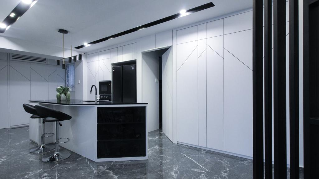 Contemporary, HDB, Dining Room, Anchorvale Road, Interior Designer, Sense & Semblance