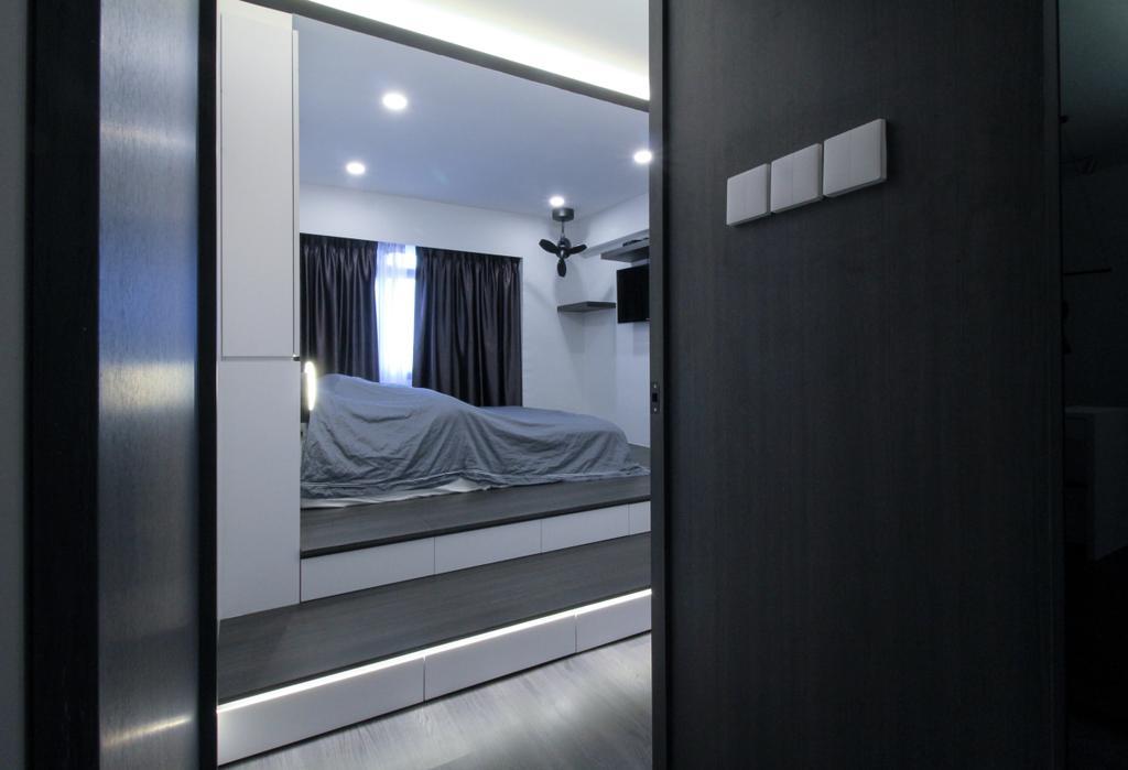 Contemporary, HDB, Bedroom, Anchorvale Road, Interior Designer, Sense & Semblance