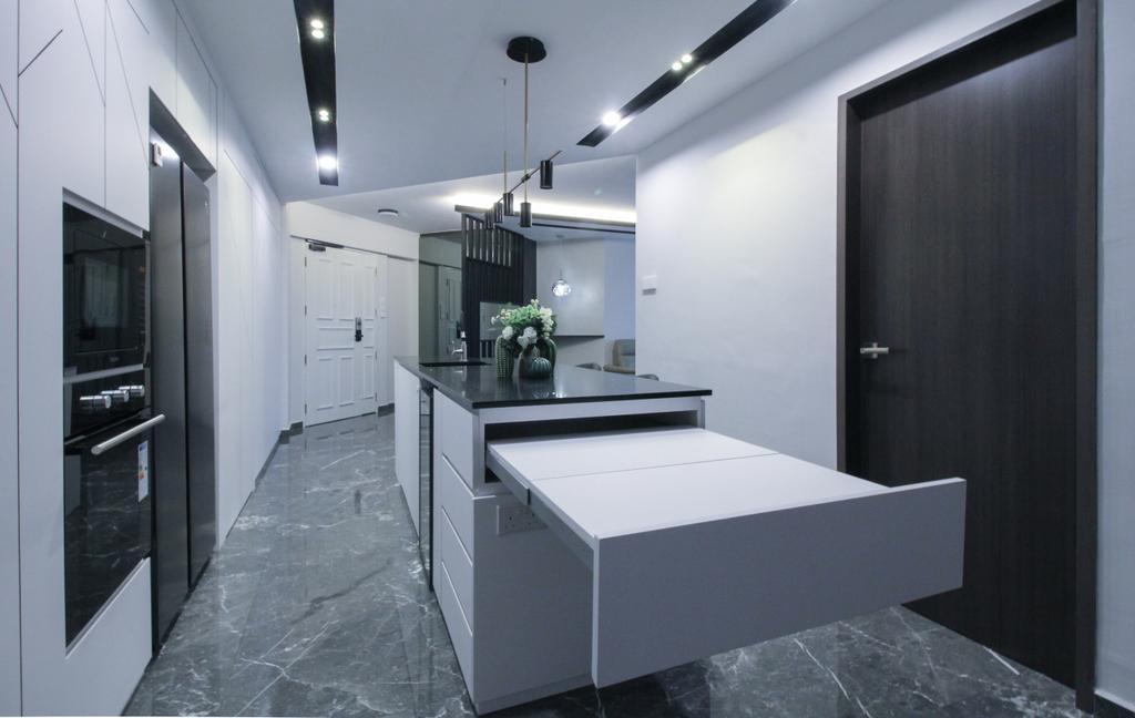 Contemporary, HDB, Kitchen, Anchorvale Road, Interior Designer, Sense & Semblance