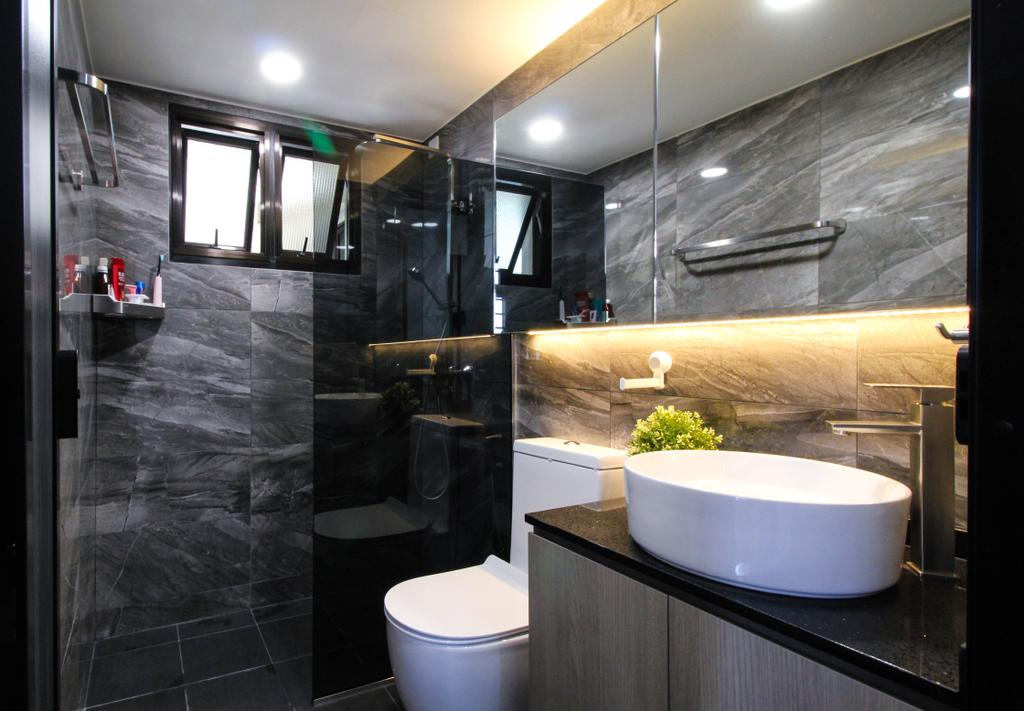 Contemporary, HDB, Bathroom, Toa Payoh Lorong 2, Interior Designer, Sense & Semblance