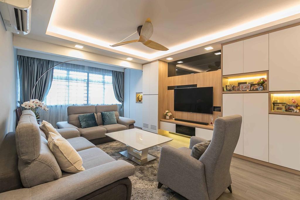 Contemporary, HDB, Living Room, Bedok North Avenue 2, Interior Designer, Swiss Interior Design