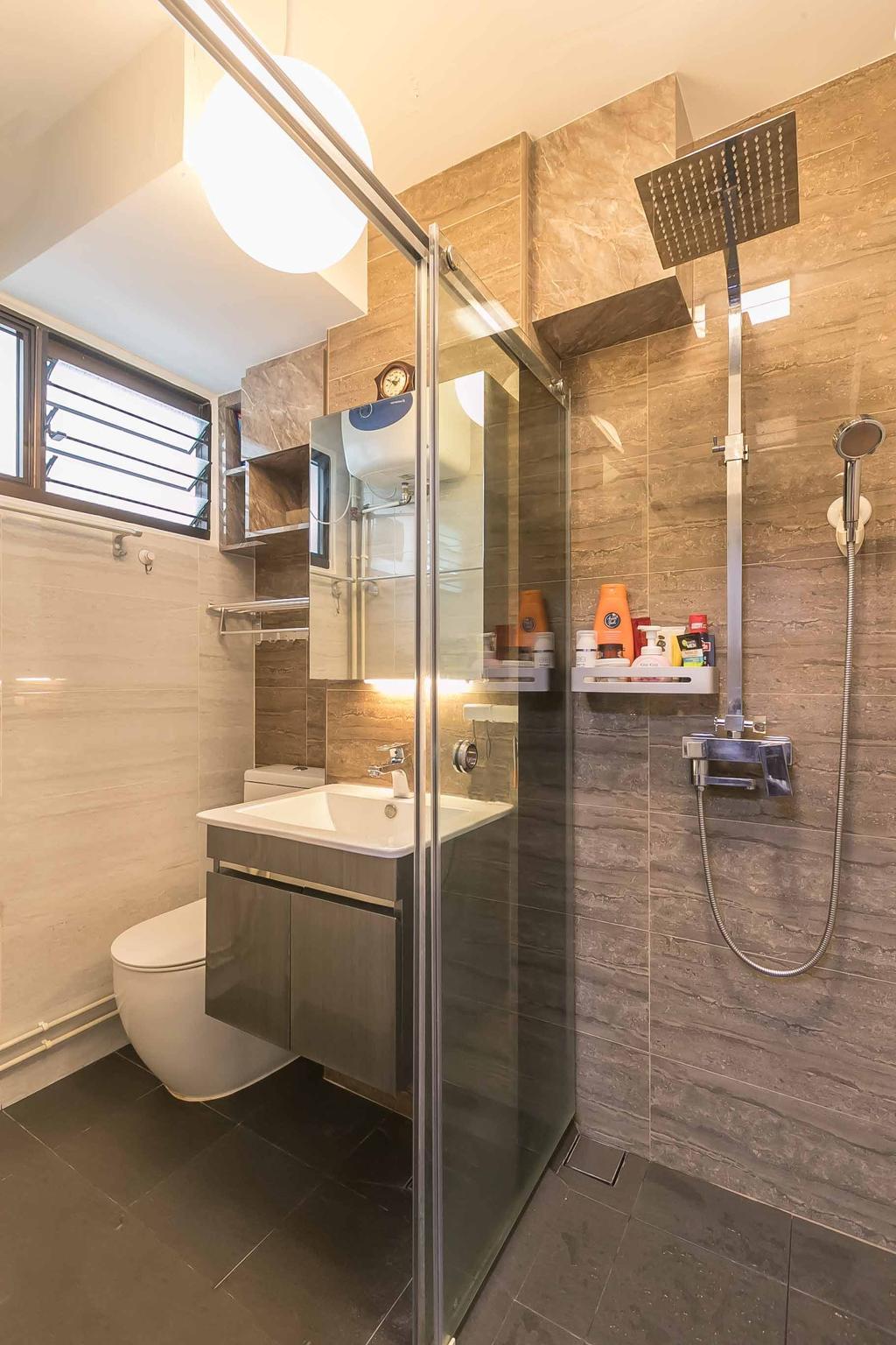 Contemporary, HDB, Bathroom, Bedok North Avenue 2, Interior Designer, Swiss Interior Design