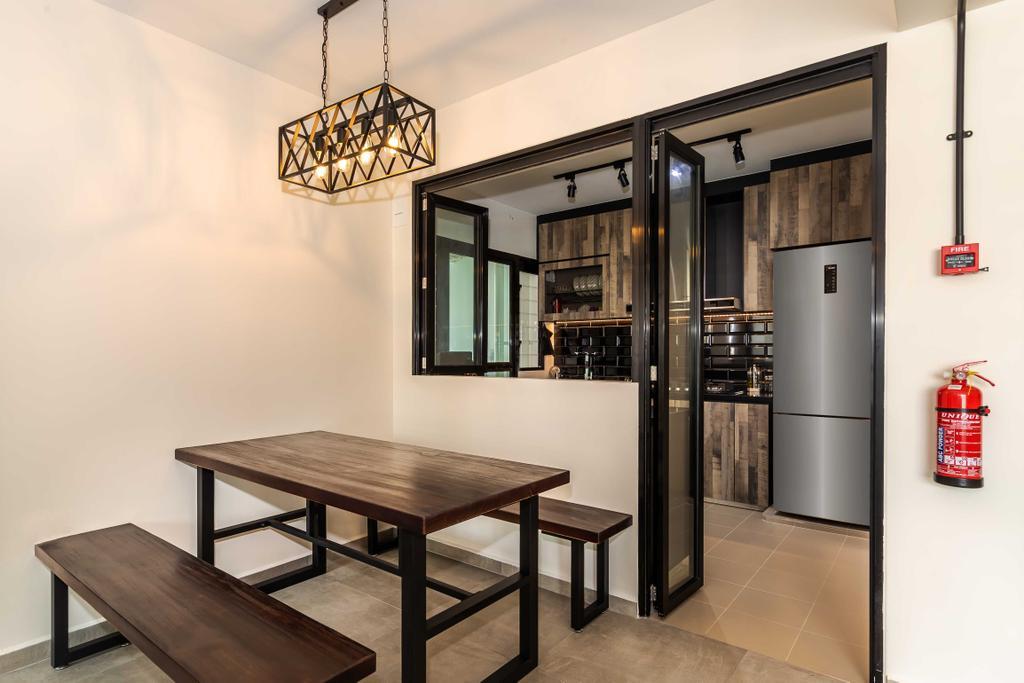 Scandinavian, HDB, Dining Room, Yishun Avenue 6, Interior Designer, Swiss Interior Design, Industrial