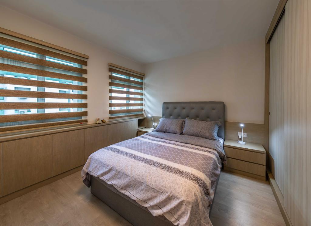 HDB, Bedroom, Senja Road, Interior Designer, Swiss Interior Design