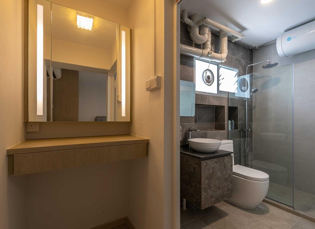HDB, Bathroom, Senja Road, Interior Designer, Swiss Interior Design