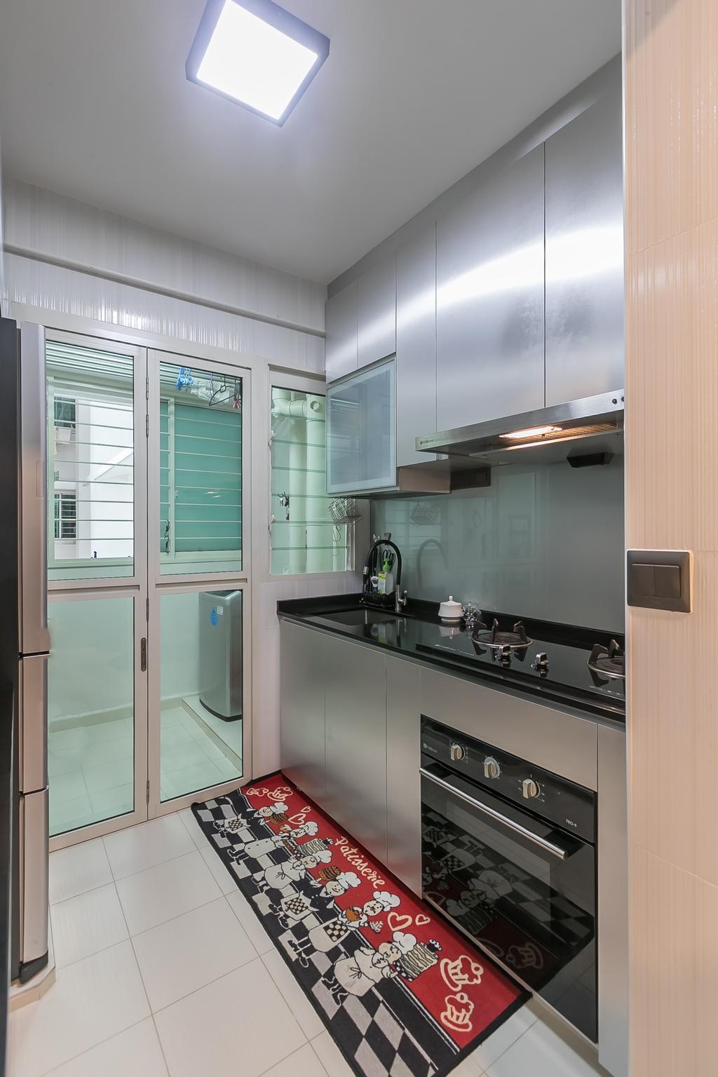 Contemporary, HDB, Kitchen, Bukit Batok Street 22, Interior Designer, Swiss Interior Design