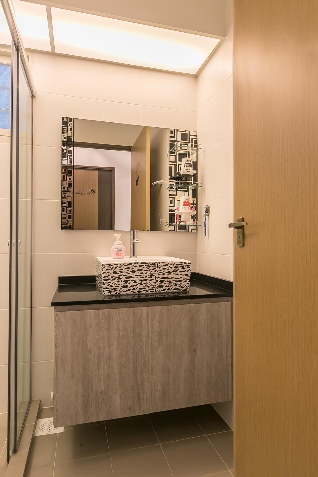 Contemporary, HDB, Bathroom, Bukit Batok Street 22, Interior Designer, Swiss Interior Design