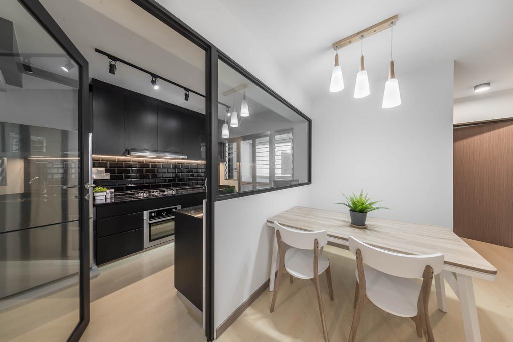 Minimalistic, HDB, Dining Room, Bukit Batok West Avenue 9, Interior Designer, Swiss Interior Design