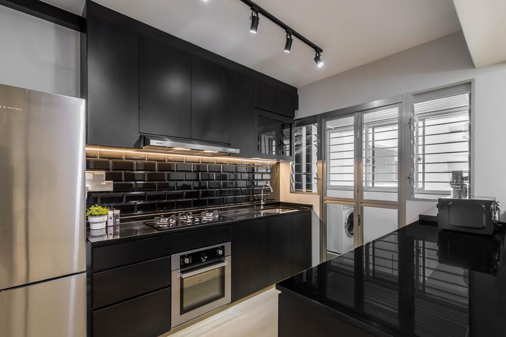 Minimalistic, HDB, Kitchen, Bukit Batok West Avenue 9, Interior Designer, Swiss Interior Design